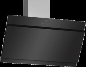 N 50, Veggmontert ventilator, 90 cm, Klart glass m svart trykk D95IHM1S0